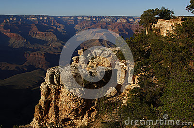 Het grote Nationale Park van de Canion, de V.S.