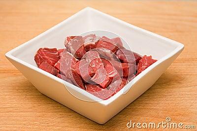 Het haasbiefstuk van het rundvlees