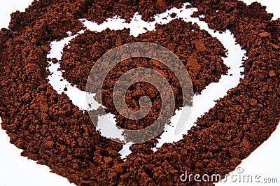 Het hart van de koffie