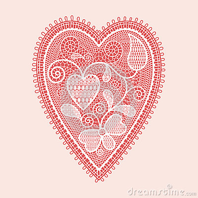 Het hart van het kant