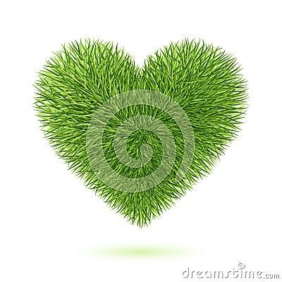 Het hartsymbool van het gras