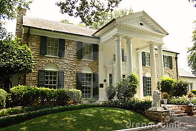 Het Herenhuis van Elvis Presley Graceland in Memphis Redactionele Stock Foto