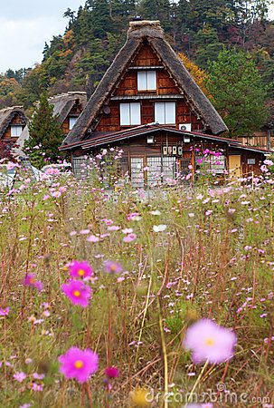 Het historische dorp shirakawa-gaat