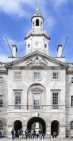Het Hoofdkwartier Londen Engeland van het Leger van de Wachten van het paard Redactionele Afbeelding