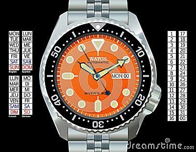 Het Horloge van de duiker