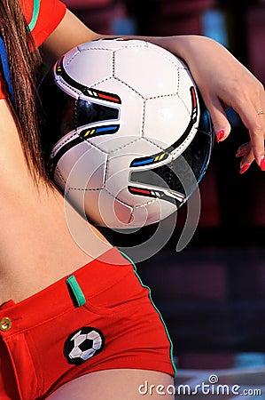 Het houden van voetbal
