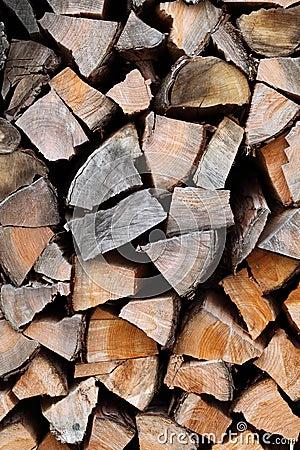 Het hout van de brand