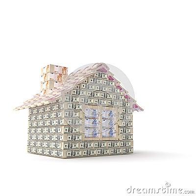 Het huis van dollar die 100 wordt gemaakt