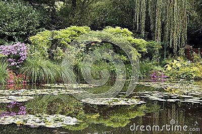 Het huis van Claude Monet in Giverny, Frankrijk