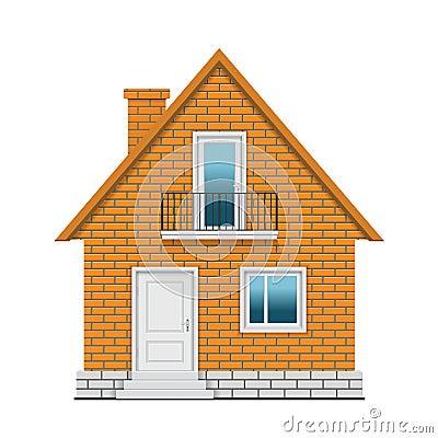 Het huis van de baksteen vector illustratie afbeelding 66376800 - Ingang van het hedendaagse huis ...