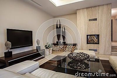 Het huis van de travertijn gevlecht decoratiebinnenland stock fotografie beeld 30212772 - Decoratie van de woonkamer ...