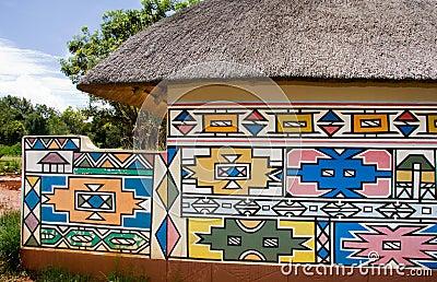 Het huis van Ndebele