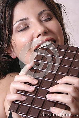 Het hunkeren naar van de chocolade