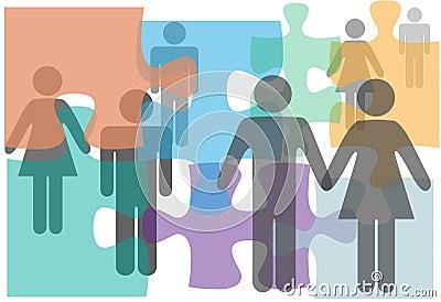 Het huwelijk dat paren adviseert kiest scheidingsmensen uit