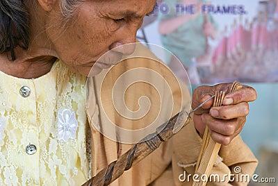 Het jaarlijkse Festival van de Paraplu in MAI Chiang. Redactionele Stock Foto