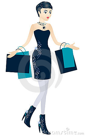 Het jonge meisje met pakketten