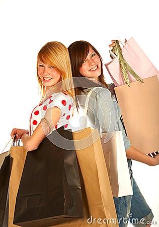 Het jonge meisje winkelen. .bigtime.