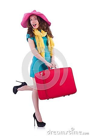 Het jonge vrouw voorbereidingen treffen