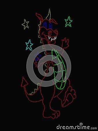 Het jongleren met van de draak sterren