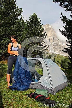 Het kamperen in de bergen