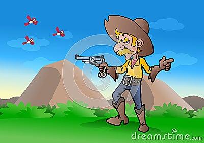 Het kanon van de cowboygreep