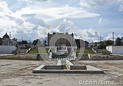 Het Kasteel Palermo Sicilië van Zisa