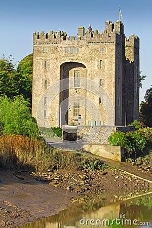 Het kasteel van Bunratty bij de rivier