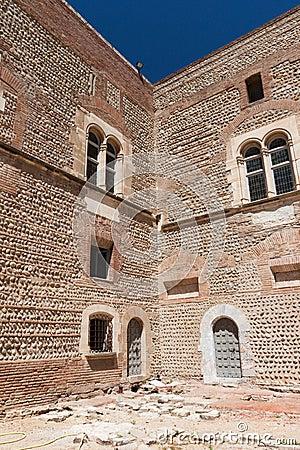 Het kasteel van de de 13de eeuwcitadel in Frankrijk