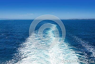 Het Kielzog van de boot