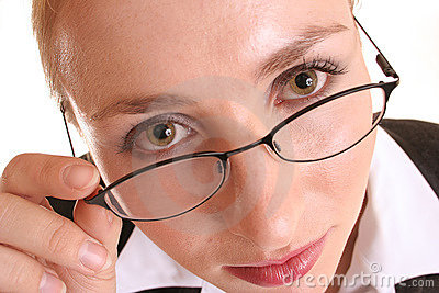 Het kijken over glazen