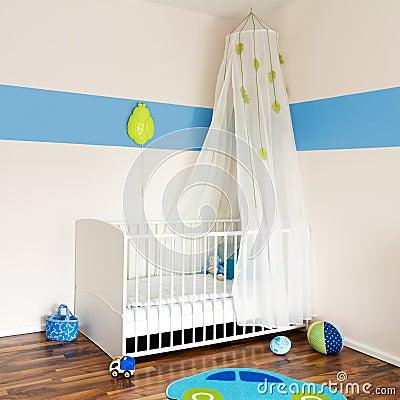Het kinderdagverblijf van de baby met bed stock foto 39 s beeld 19980323 - Room muur van de baby ...