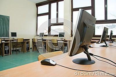 Het klaslokaal van de computer