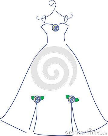 Het kleding-purple van het huwelijk