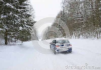 De weg van de winter