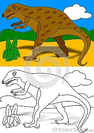 Het kleurende boek van Dino