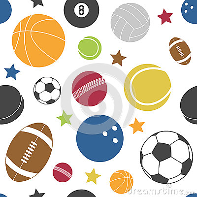 Het kleurrijke Naadloze Patroon van de Sport