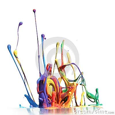 Het kleurrijke verf bespatten