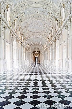 Het Koninklijke paleis van Venaria Redactionele Foto
