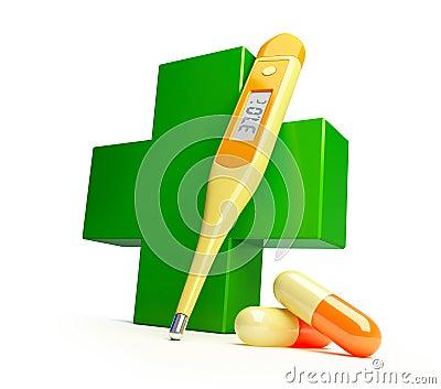Het kruis van de apotheek stock afbeelding beeld 10201201 - Smeedijzeren prieel leunde tegen ...