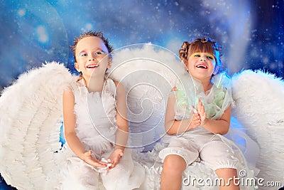 Het lachen engelen