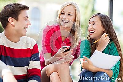 Het lachen van vrienden