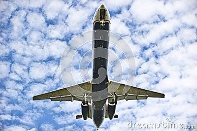 Het landen van het vliegtuig