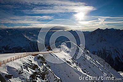 Het landschap van alpen
