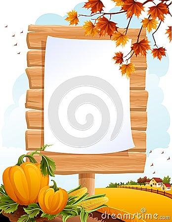 Het landschap van de herfst