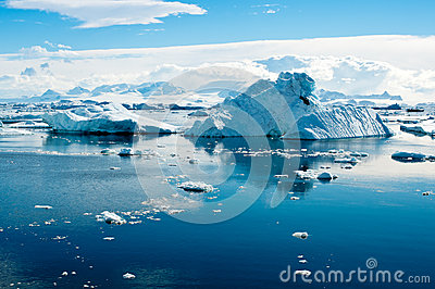 Het landschap van de ijsberg