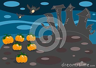 Het landschap van Halloween