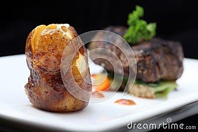 Het lapje vleesgedeelte van het haasbiefstuk