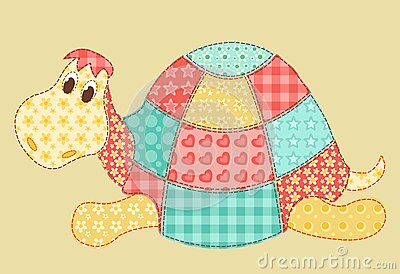 Het lapwerk van de schildpad