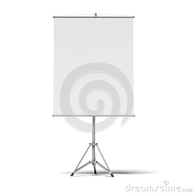 Het lege scherm van de presentatierol