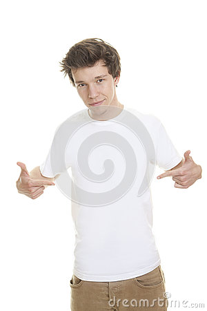 Leeg wit t-shirtmodel